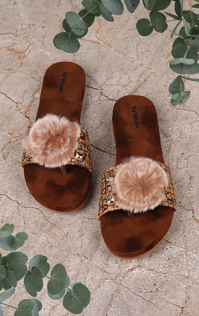 A Furry Friend Flat Sandals