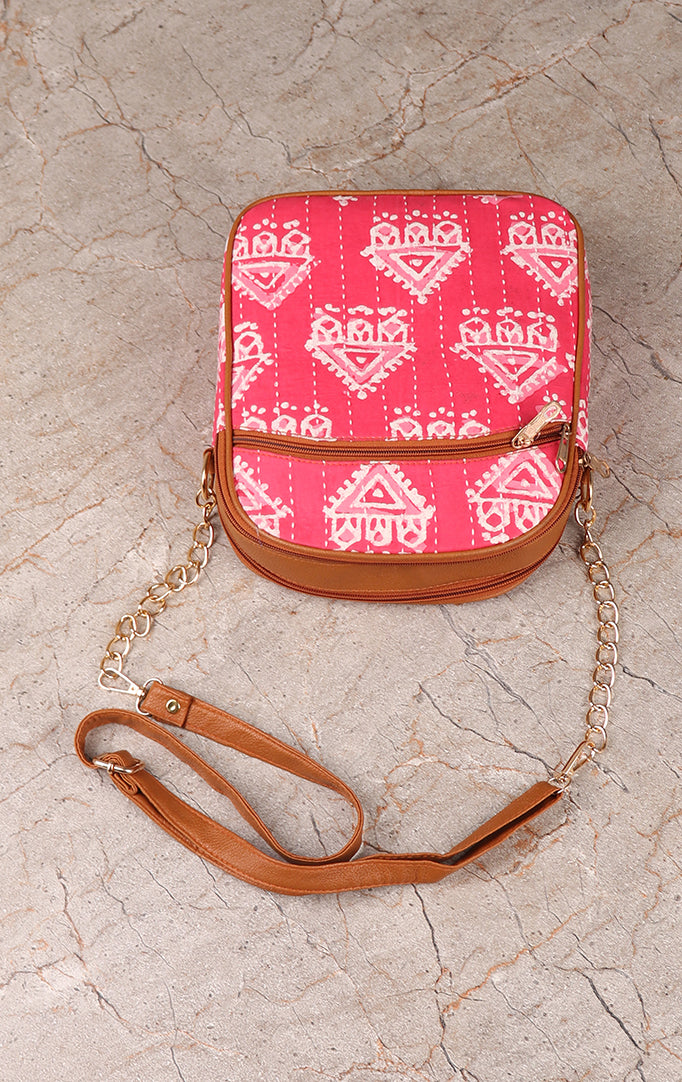 Pretty In Pink Sling Bag