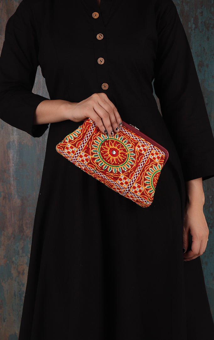 Rajasthani Royal Clutch + Sling