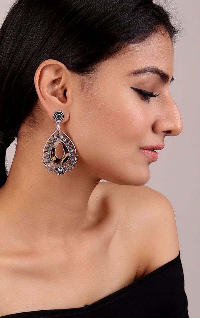 Drop-shaped Statement Earrings