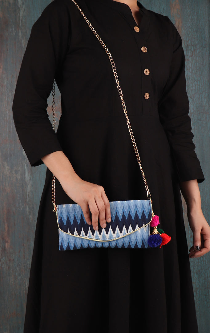 Waves From The Ocean Purse With Sling