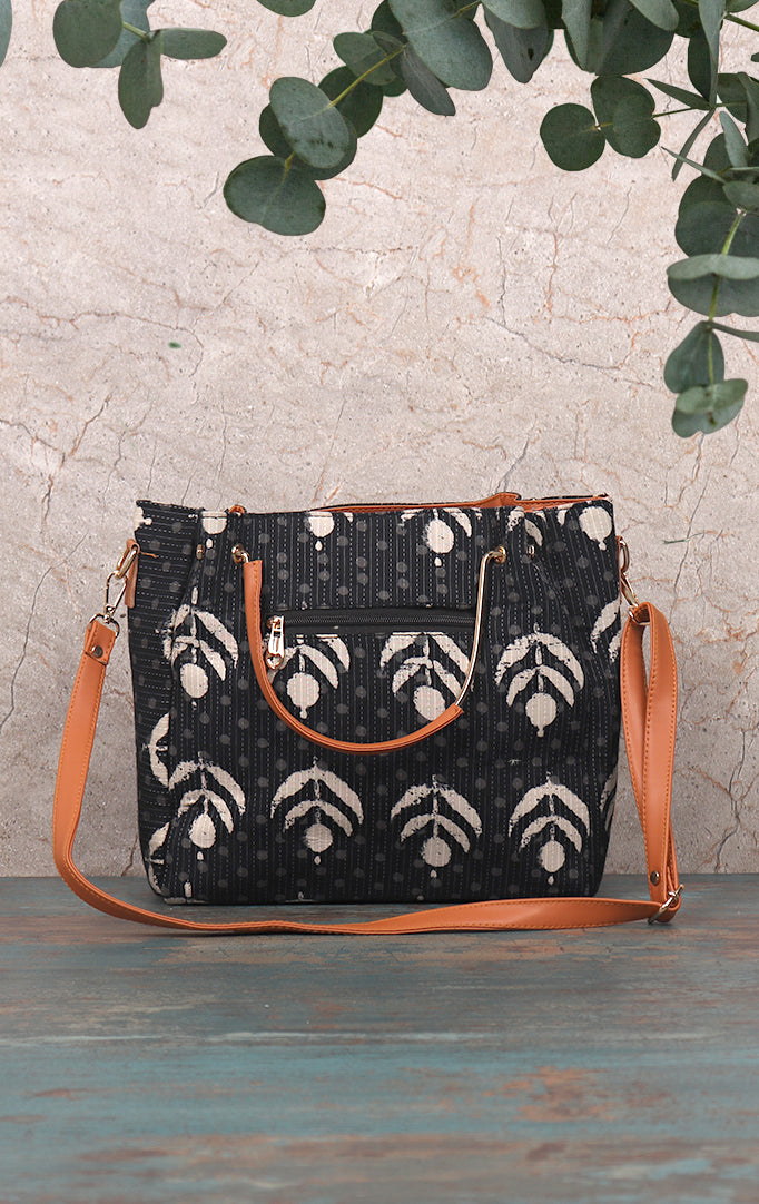 Inverted Flower Bud HandBag With Strap