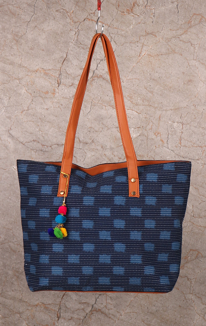 Blue On The Block Tote Bag