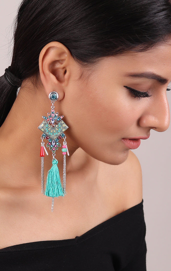 Whimsical Pastel Earrings with Tassels