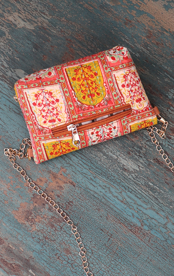 Historial Touch Clutch with Golden Sling