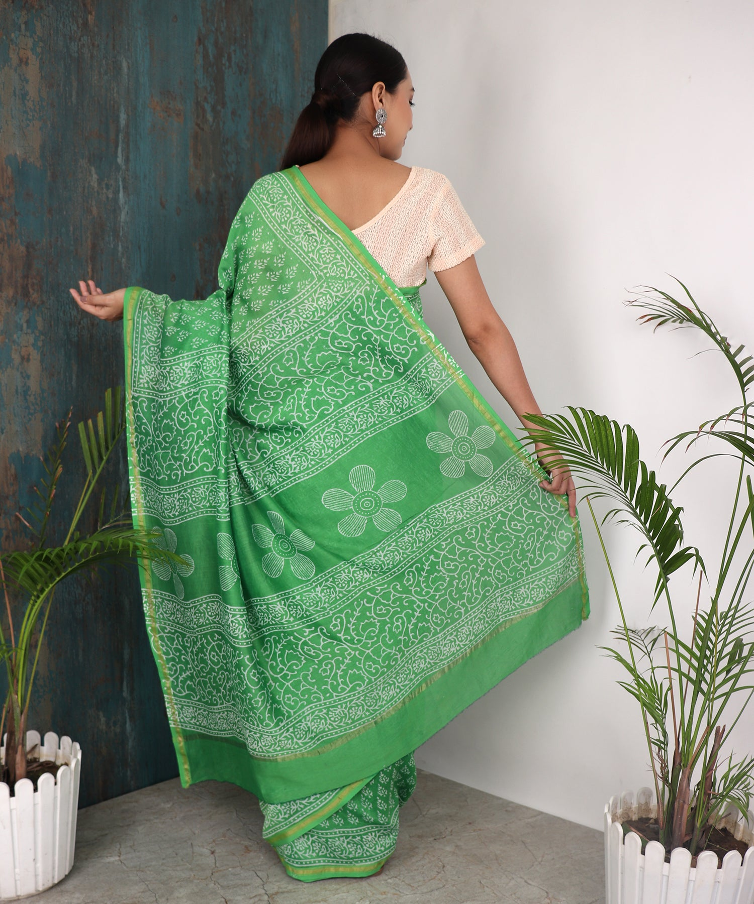 ECSTASY SAREE IN GREEN