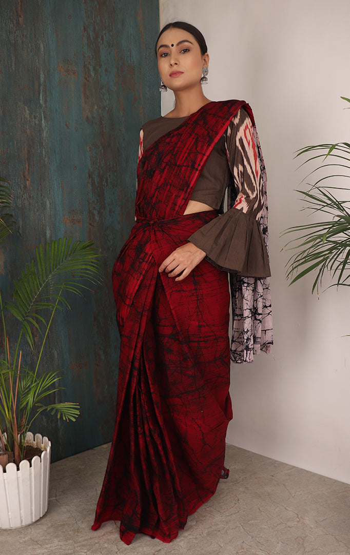 SLAY IT IN RED SAREE