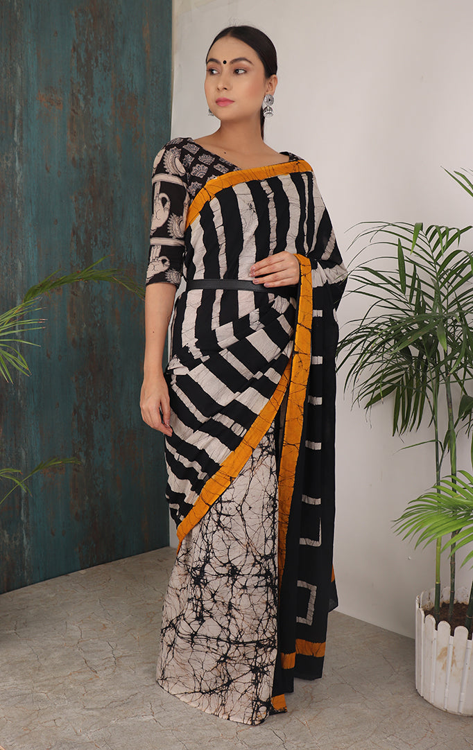 VINTAGE LOOKS SHIBORI SAREE