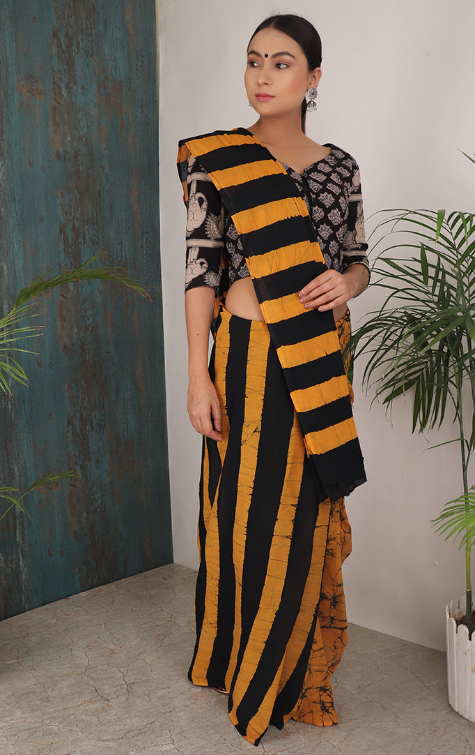 BEE AWESOME SHIBORI SAREE