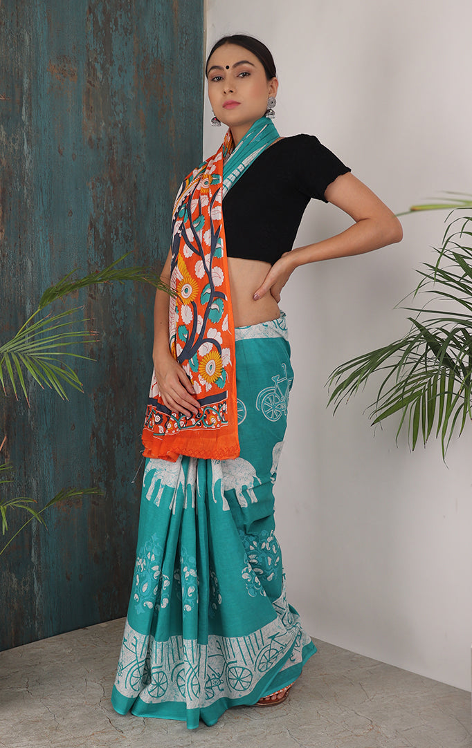 STYLING EVERYDAY SAREE WITH CONTRASTING PALLU