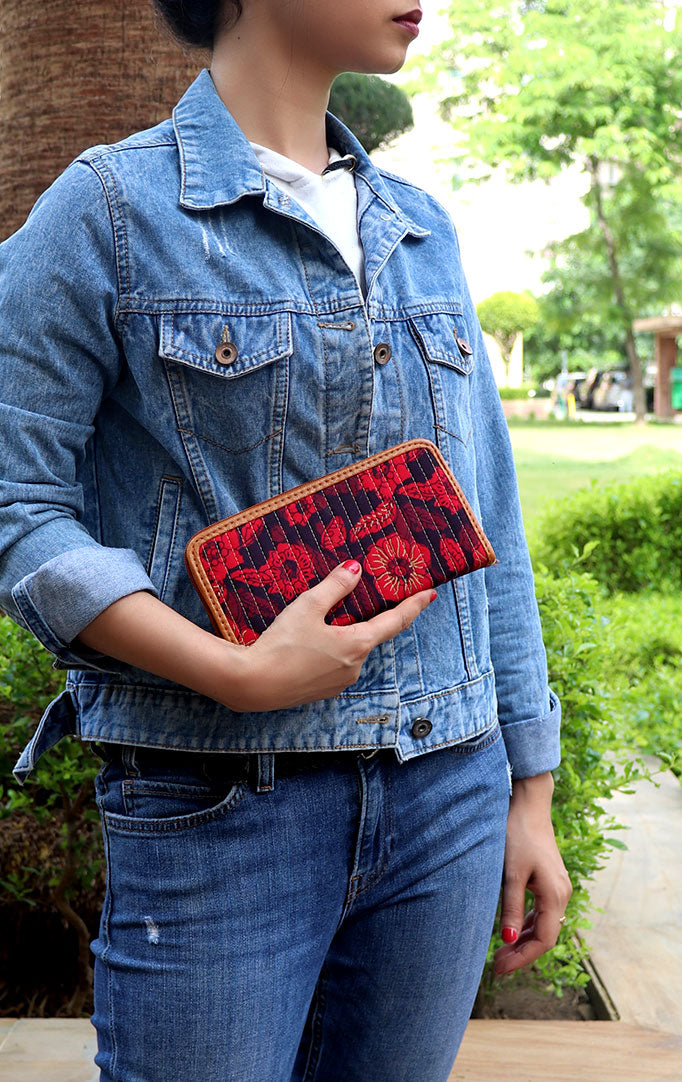 Flower Garden Red Clutch