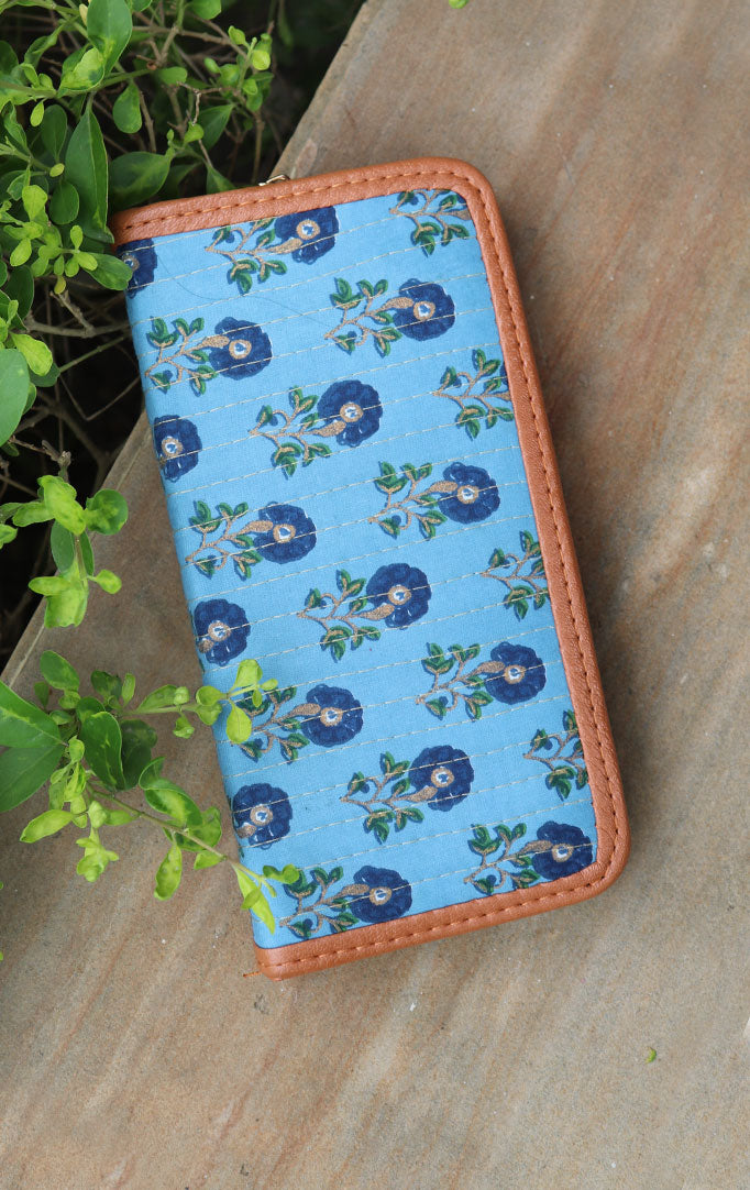 FLOWER BUDS BLOCK PRINT WALLET