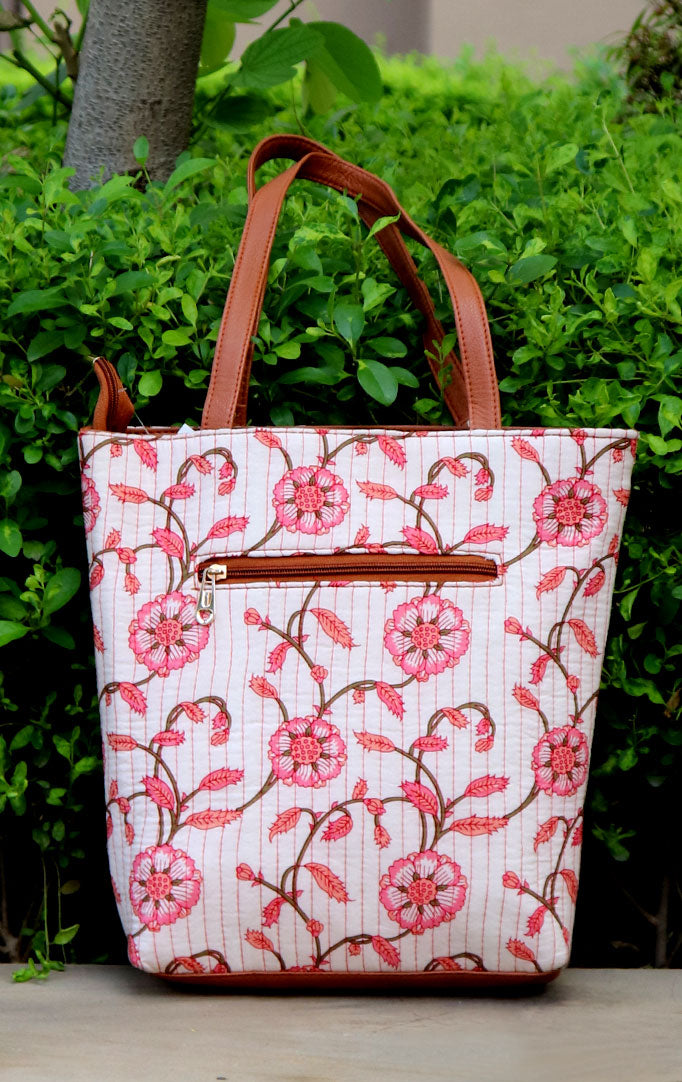 CLASSIC FLORAL TOTE BAG