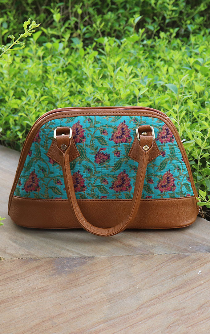 LOTUS LAKE HANDBAG IN BLUE