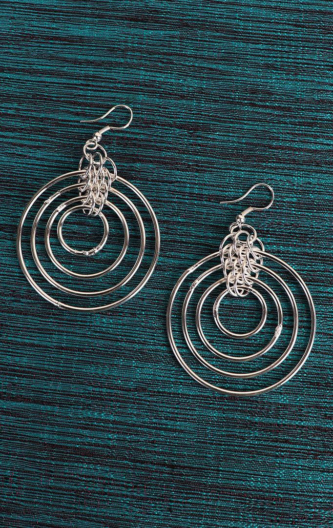 Ring Danglers in Silver