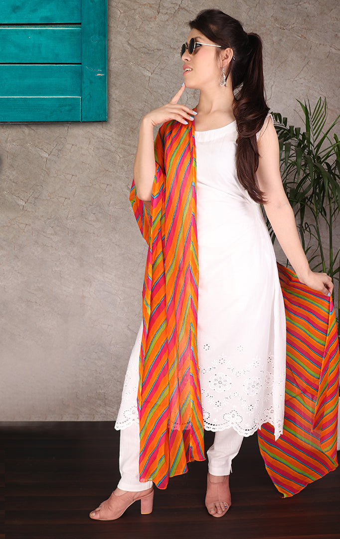 Multicolored Lehariya Dupatta