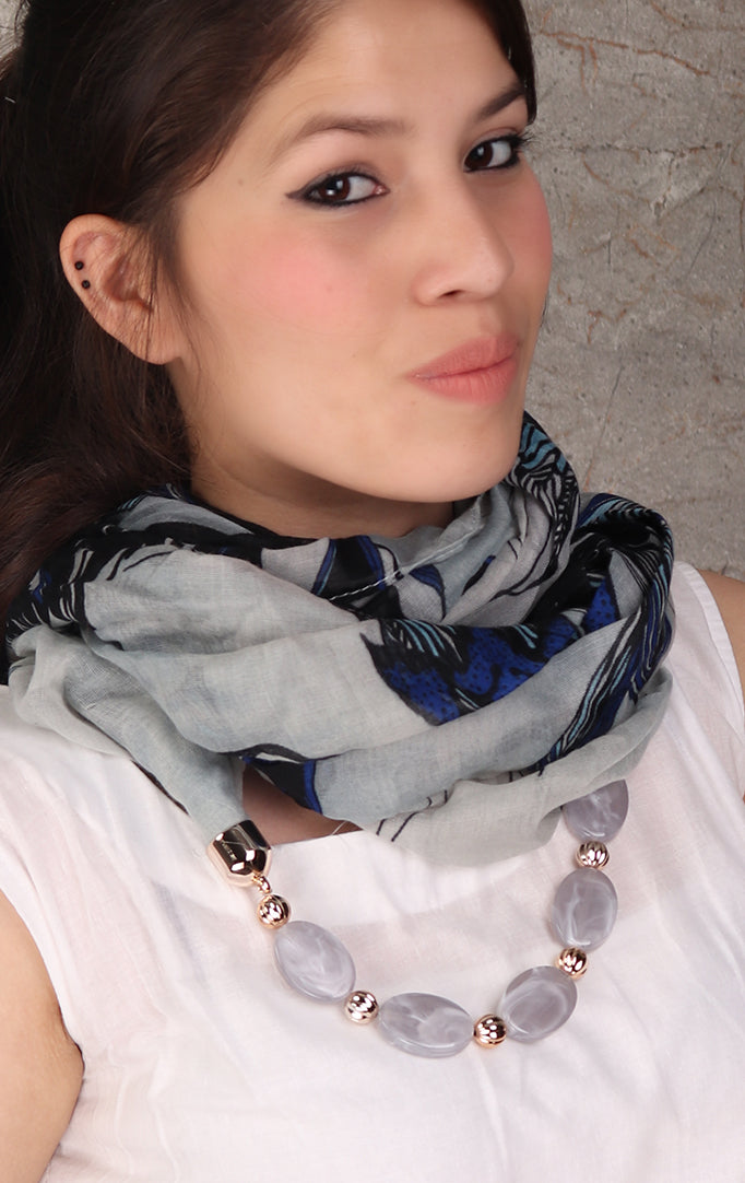 Shaded Gray necklace stole