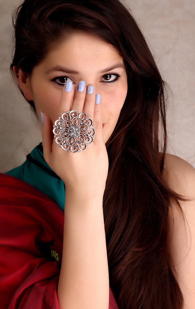 Filigree-inspired Statement Ring