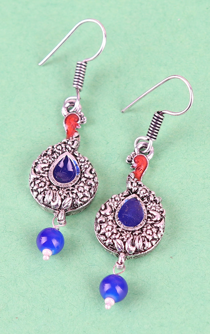 Drop-shaped Silver Earrings