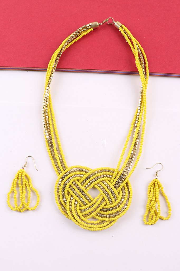 Attractive Yellow-Gold Necklace Set