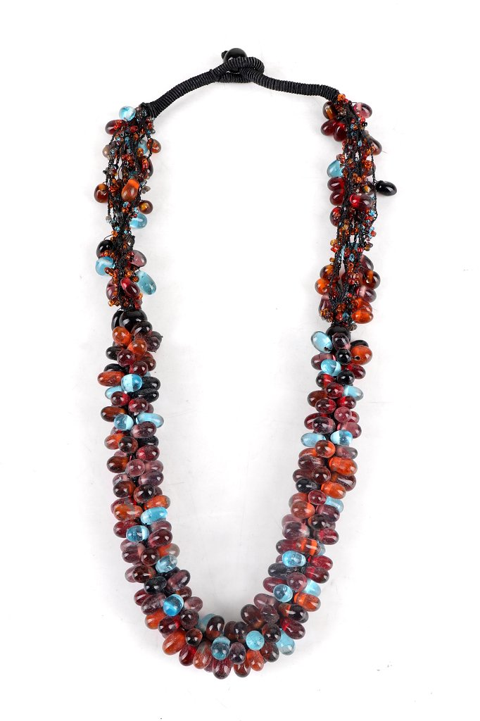 Multicolored Glass Beaded Necklace