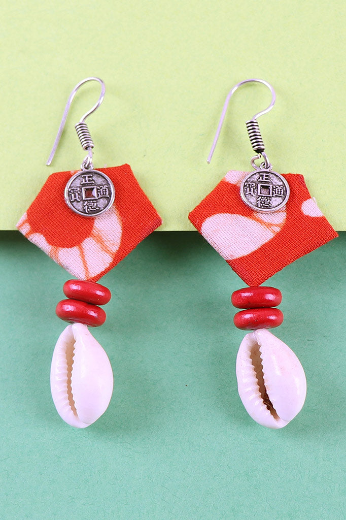 Batik Printed Fabric Earrings