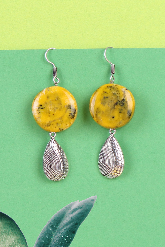 Yellow Stone Oxidise Earrings