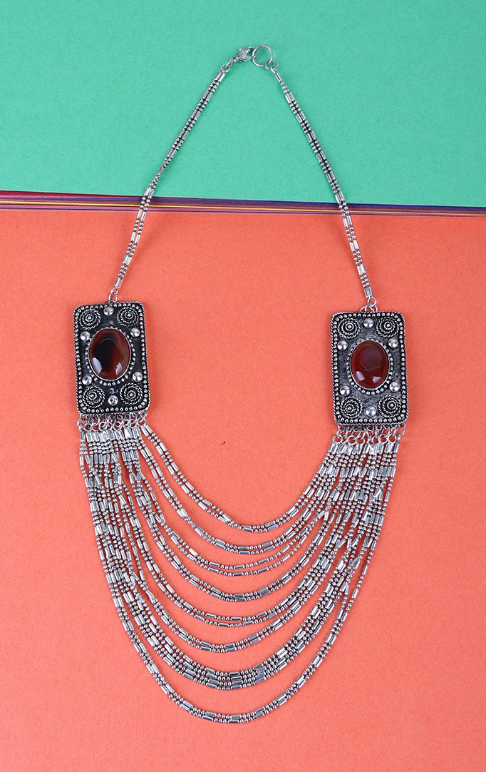 Silver Multilayered Necklace