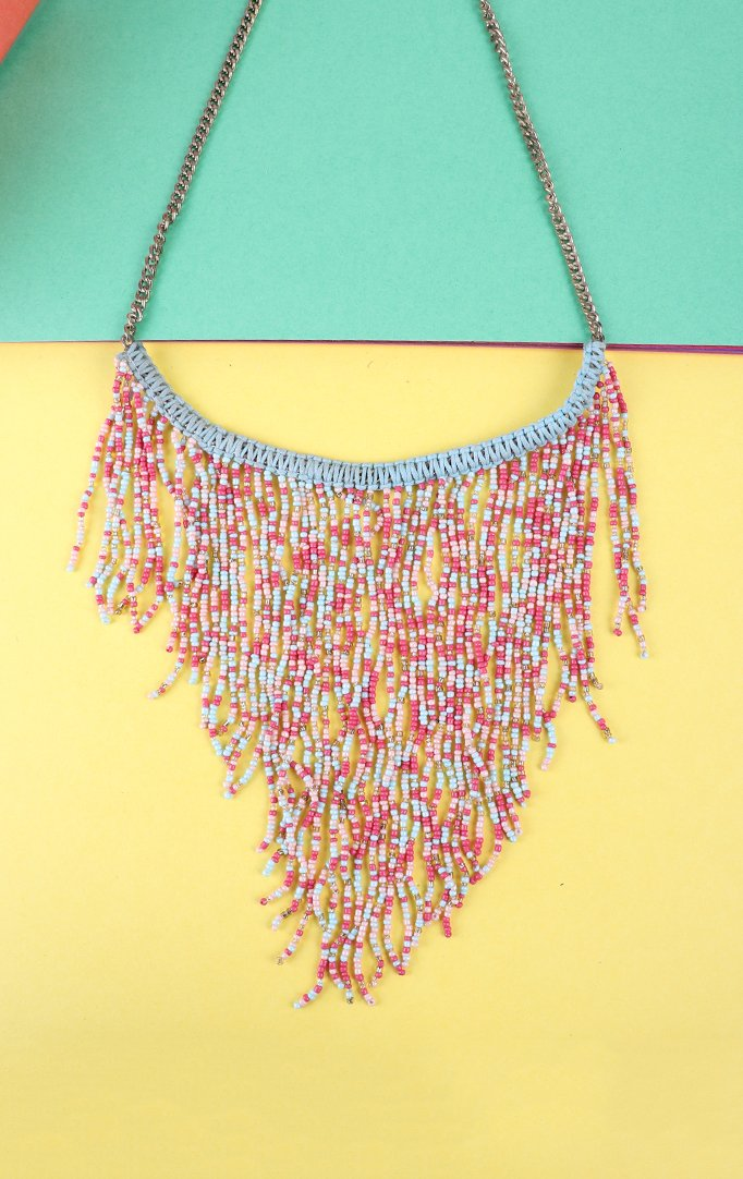 Multicolor Tasseled Boho Necklace