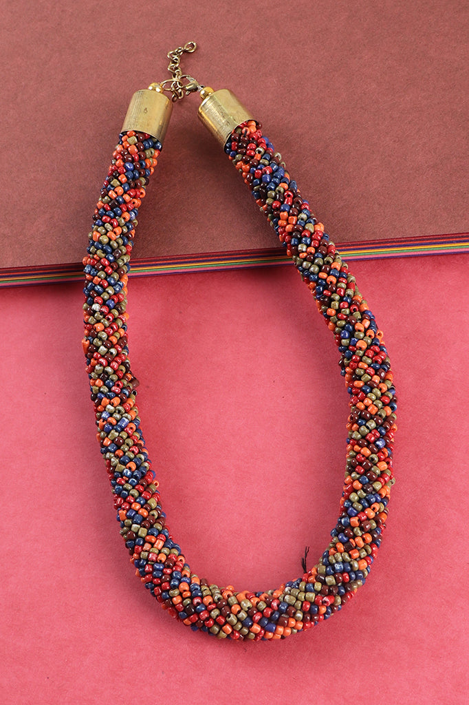 Multicolored Rope Necklace