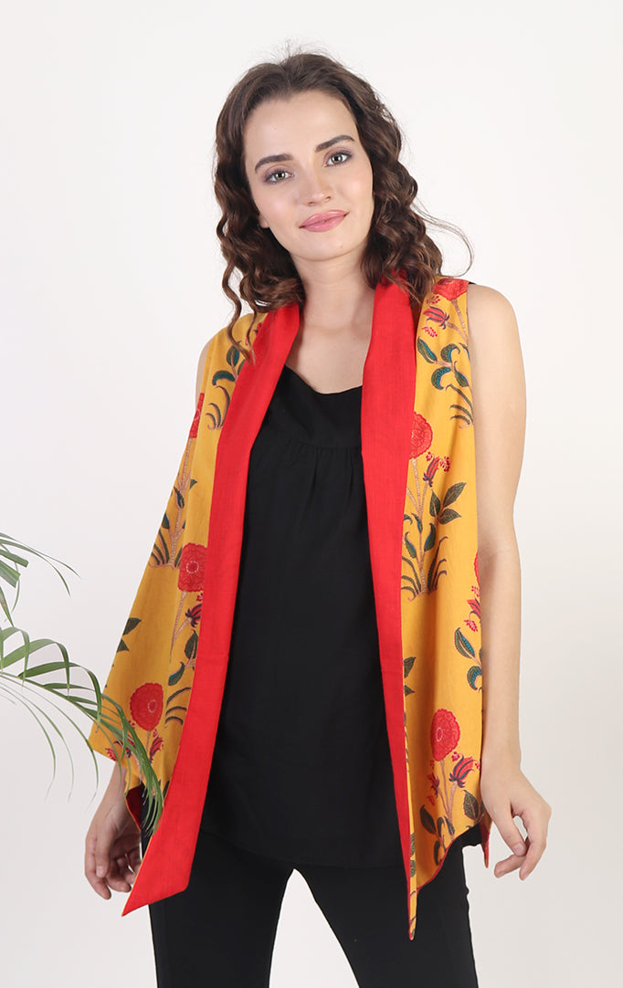 Red-Yellow Reversible Shrug