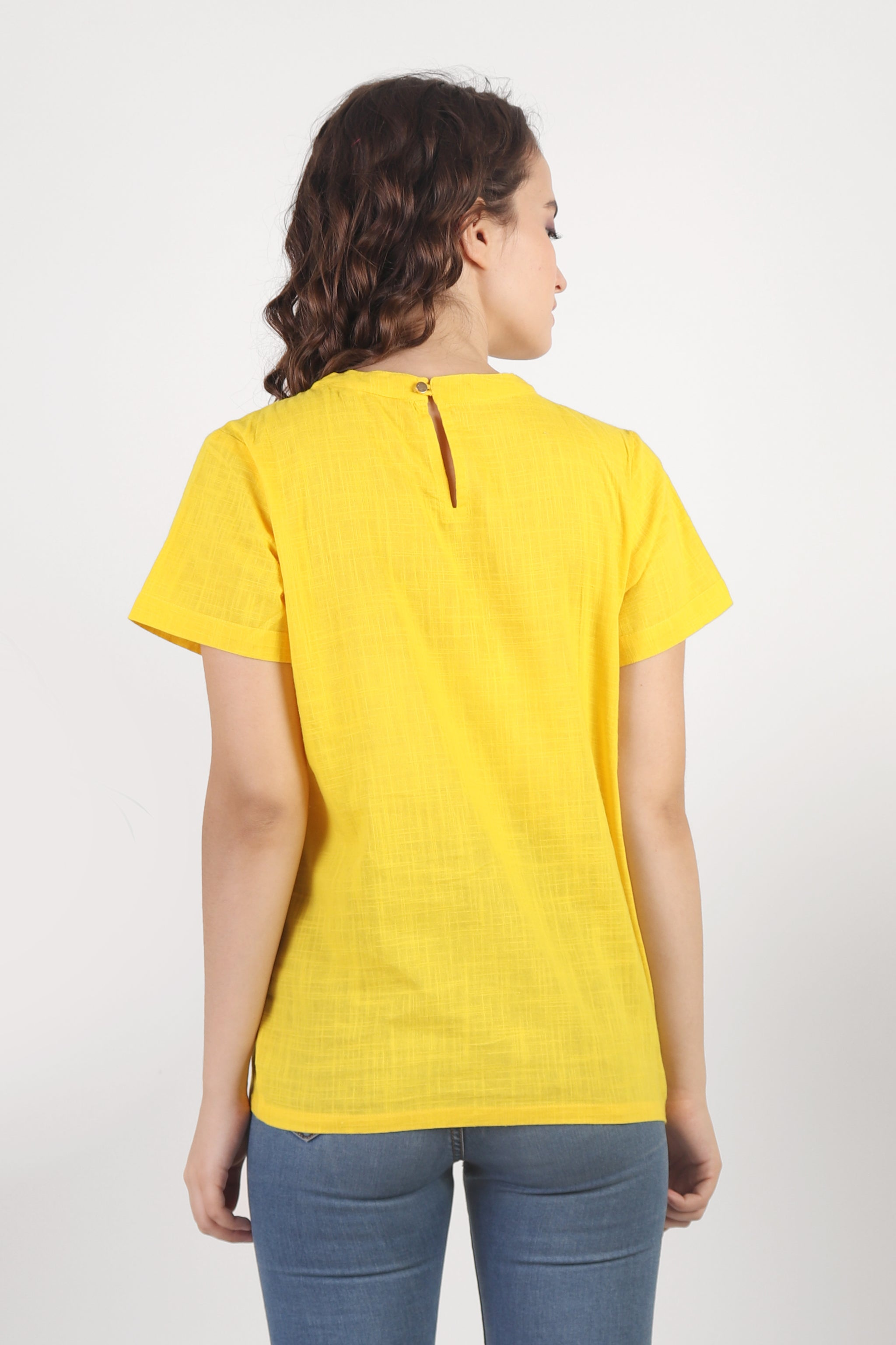 Bright Yellow Cotton Top