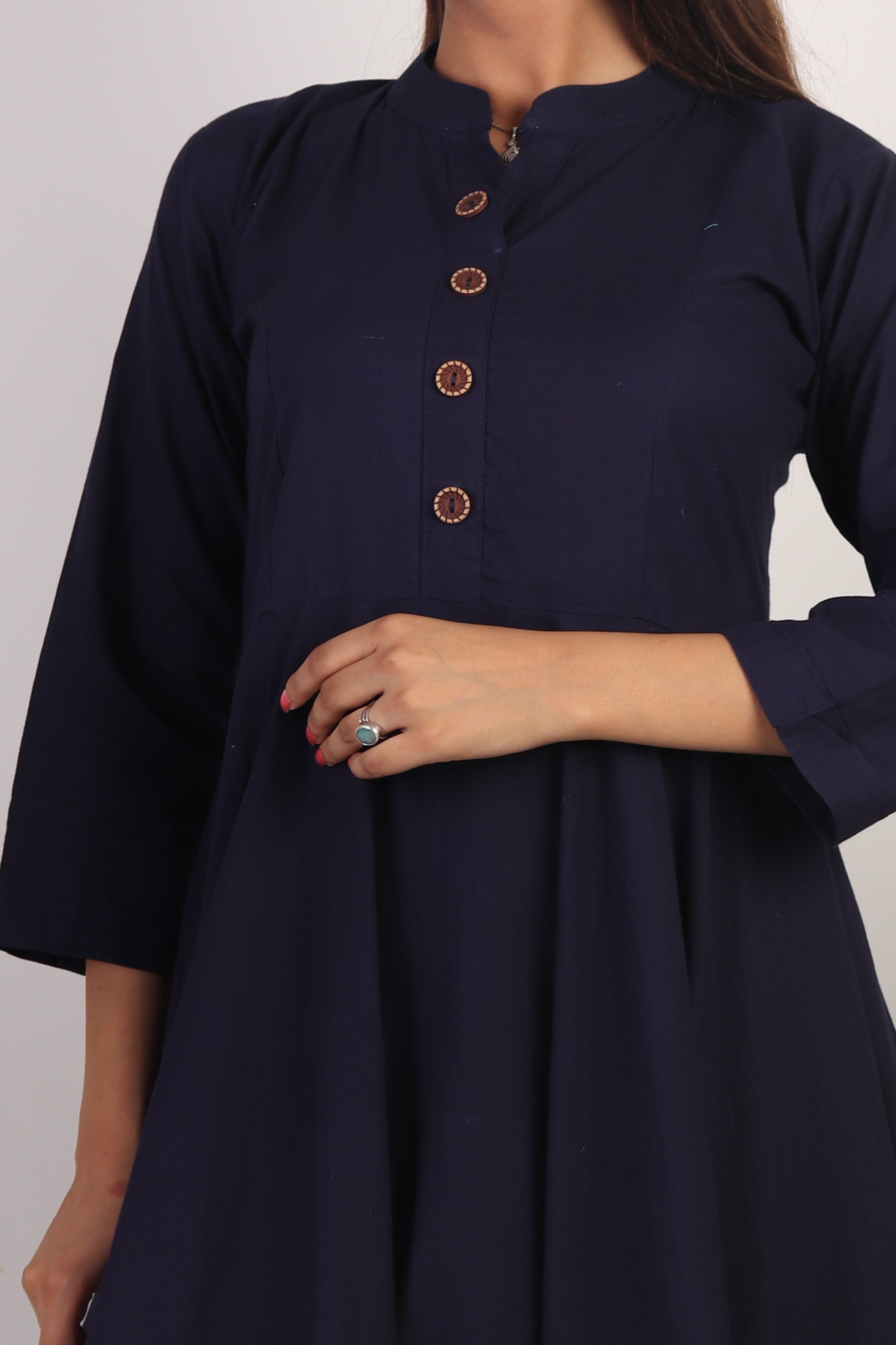 Navy-blue Anarkali Dress