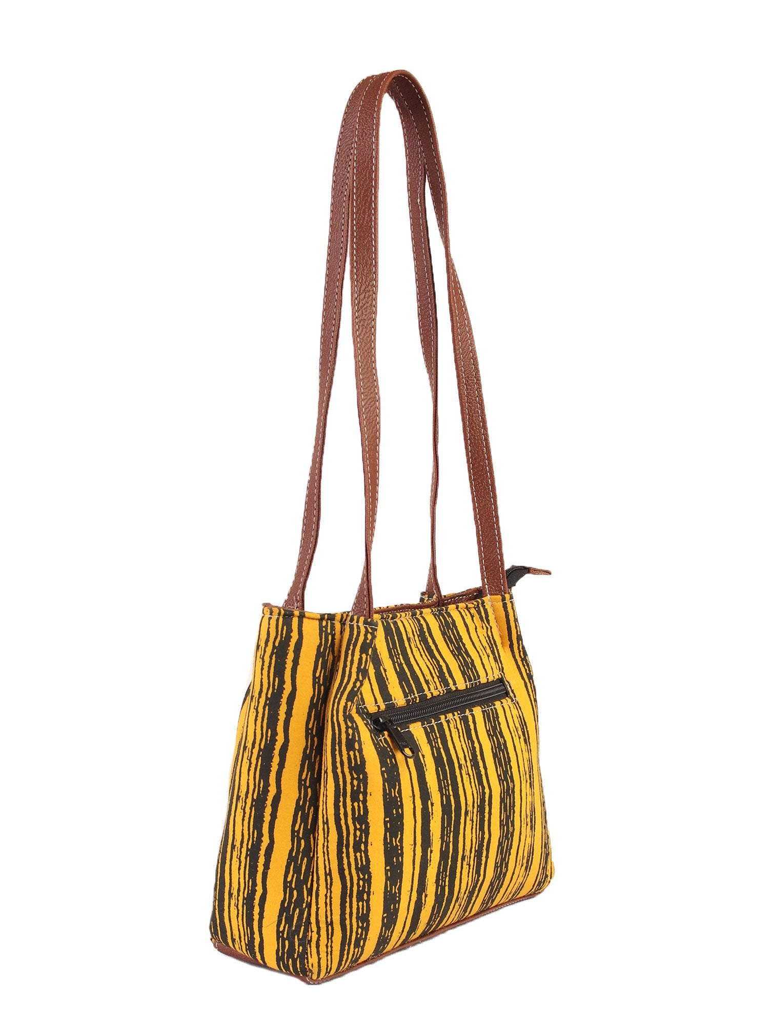 Fringed Striped Handbag