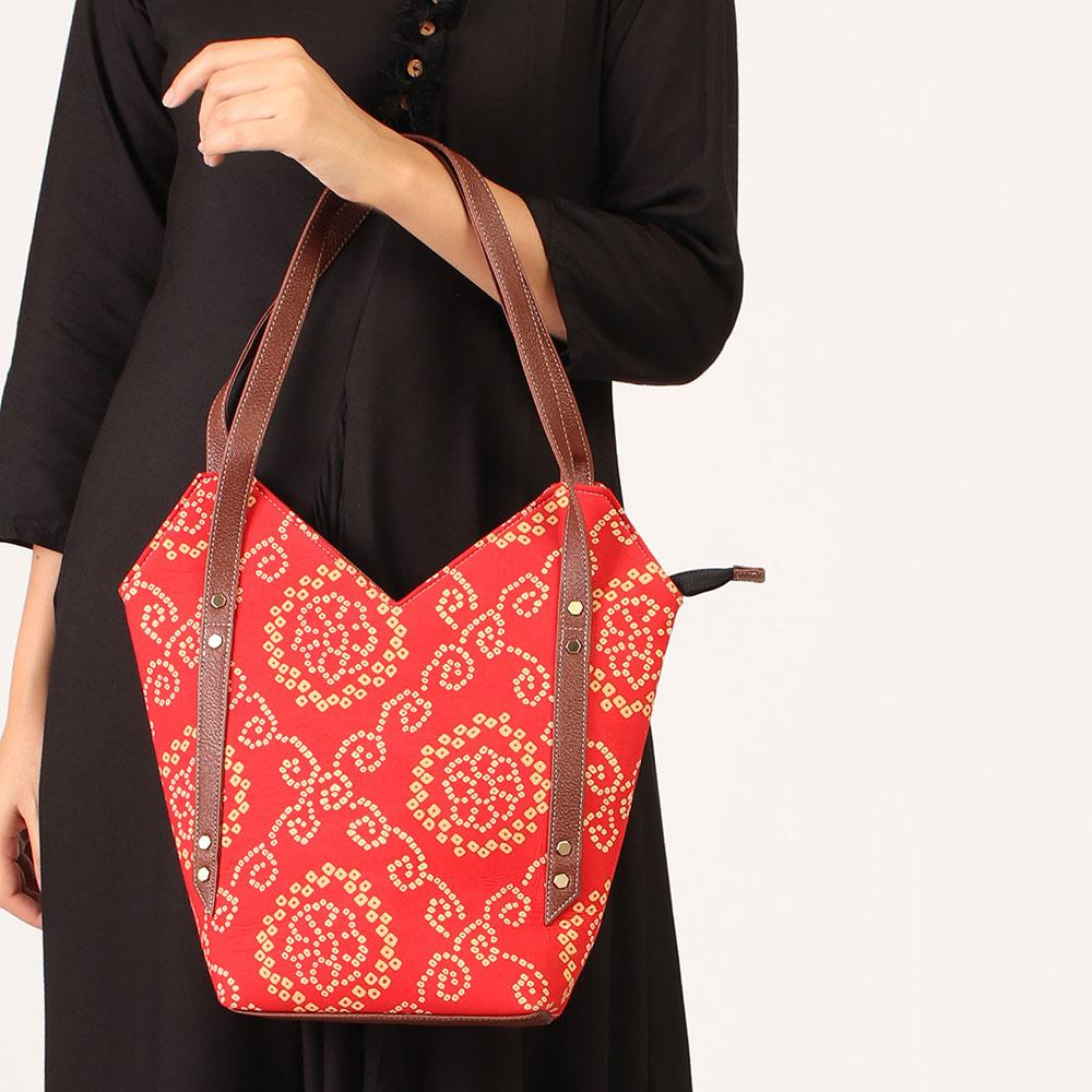 Orange Solid Shoulder bag