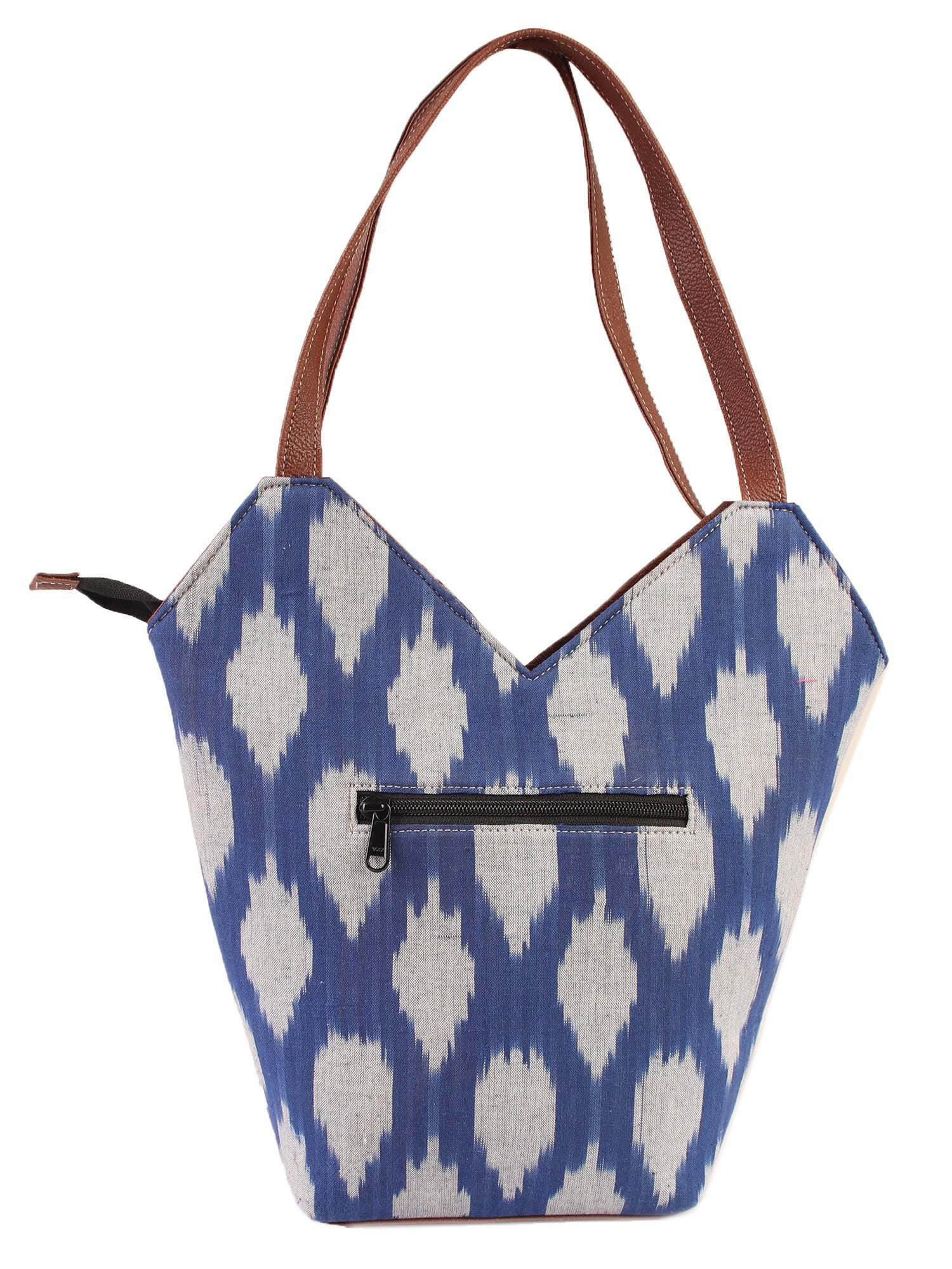 Blue Ikkat Tote Bag