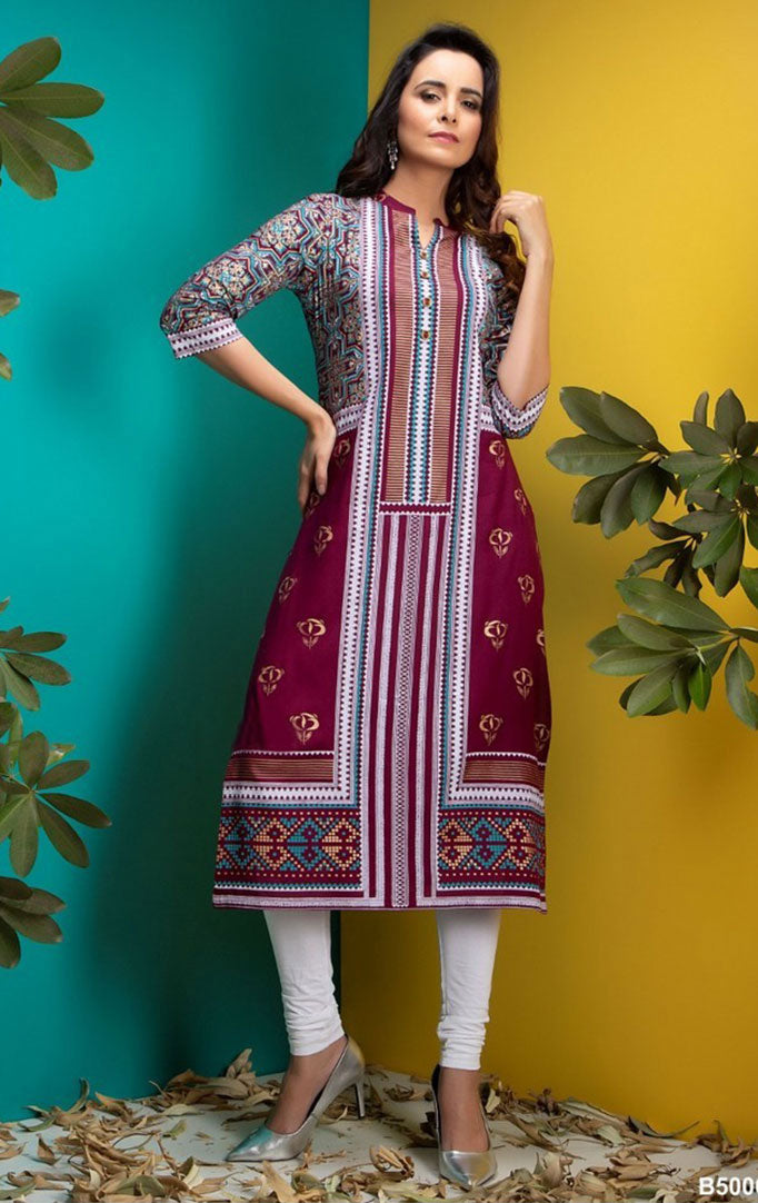 Different This Time Kurta With Broad Border