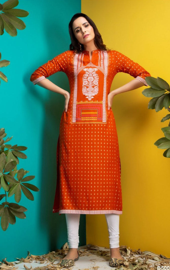 Pick Me Sweet Orange Kurta