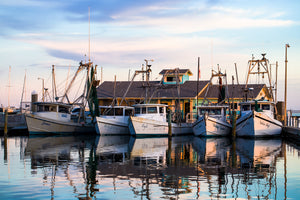 Jane's Shrimp Boats at Sunset | March 2019 Wall Art Selection
