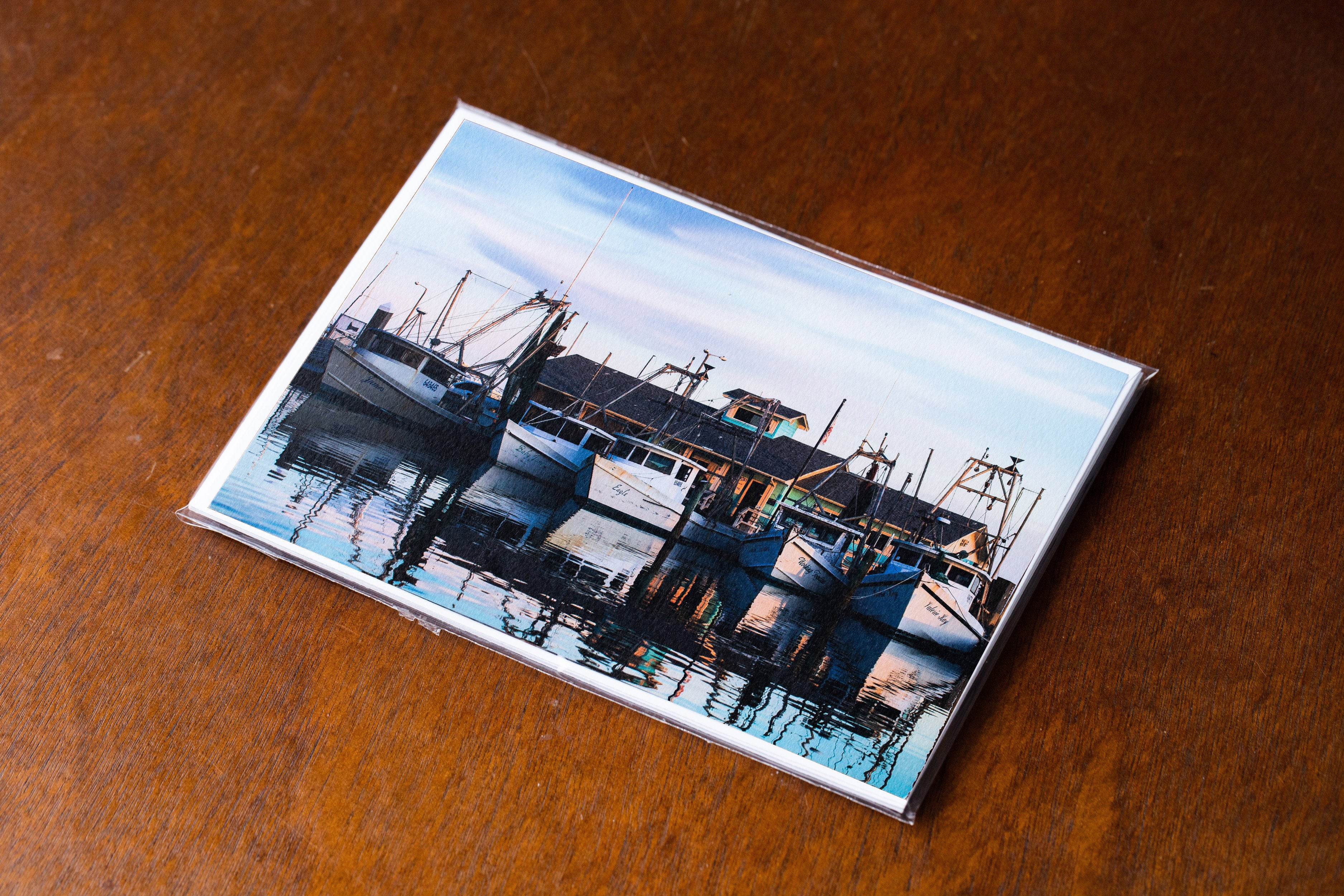 Corpus Christi Card Pack - Shrimp Boats at Sunset