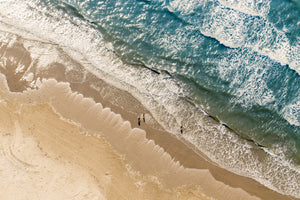Gulf Beach Surf from Above | June 2019 Wall Art Selection