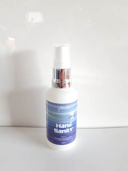 Hand Sanity 50ml - botanical hand sanitizer - Free shipping for 5 or more