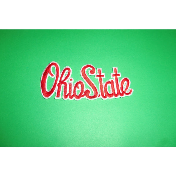 "NCAA Ohio State Buckeyes in Cursive Iron On Embroidered Patch 4.5"" x 2"""