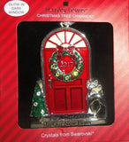 Harvey Lewis 2017 1st Christmas in new Home Silver Swarovski Crystals Ornament