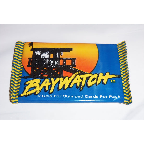 1 Pack 1995 Baywatch 9 Gold Foil Stamped Trading Cards by Sports Time, Inc