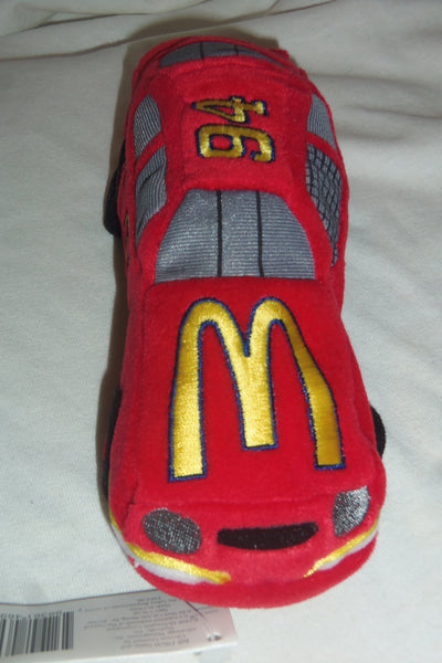"NASCAR Beanie Racer McDonalds #94 Bill Elliot 7"" long Plush Toy 1998"