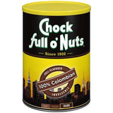 Lot of 2 Cans Chock full o' Nuts Coffee 100% Colombian Dark 10.3oz Best By Date 2019