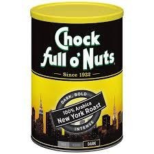 Lot of 2 Cans Chock full o' Nuts Coffee 100% Arabica New York Dark Roas 10.5oz Best By Date 2019