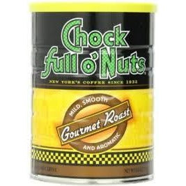 Lot of 2 Cans Chock full o' Nuts Coffee Gourmet Roast 11oz Best By Date 2019