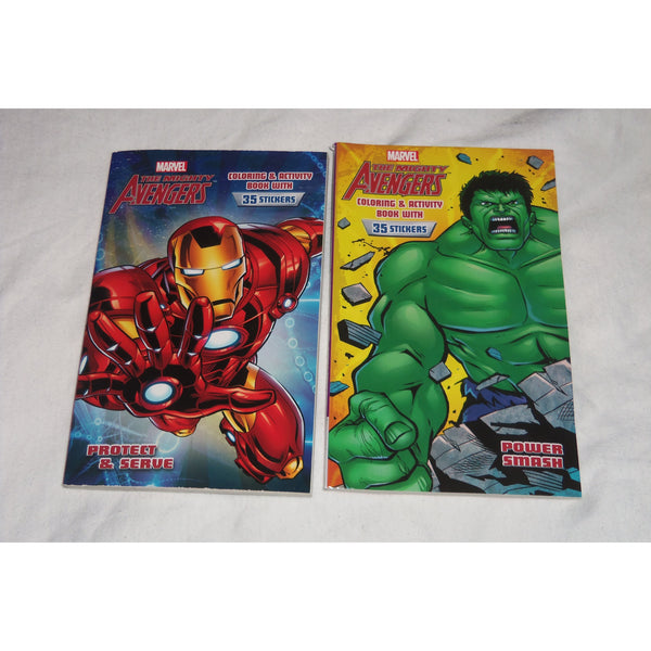 Marvel the Mighty Avengers Iron Man Hulk Coloring Activity Book with Stickers